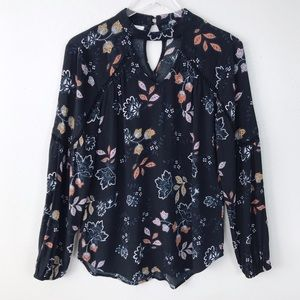 Maurices Black Floral Boho Blouse